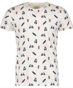 Hensen t-shirt - extra lang - ecru