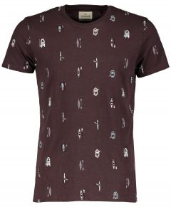 Hensen t-shirt - slim fit - bruin