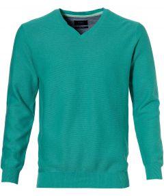 sale - Nils pullover - slim fit - groen