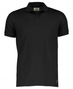 Hensen polo - slim fit - zwart