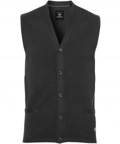 sale - Lerros gilet - regular fit - donkerblauw