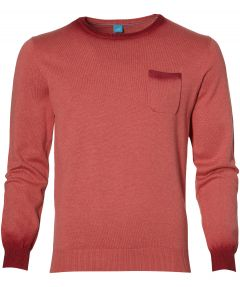 sale - British Indigo pullover - slim fit - rood
