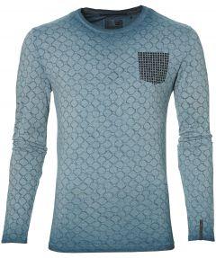 sale - No Excess t-shirt - modern fit - blauw