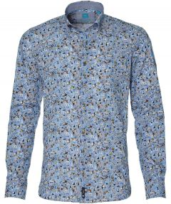 British Indigo overhemd - slim fit - blauw
