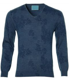 sale - British Indigo pullover - slim fit - b
