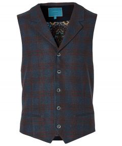 British Indigo gilet - slim fit - rood