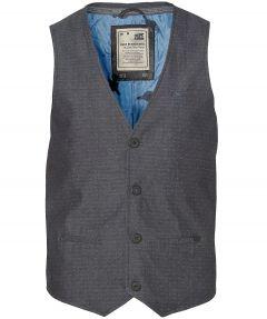 sale - No Excess gilet - slim fit - blauw