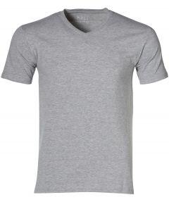 sale - Nils T-shirt v-hals - extra lang - gri