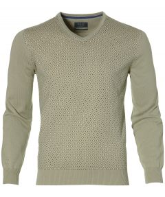sale - Nils pullover - slim fit - groen