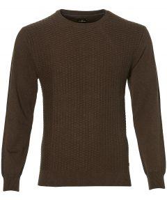 sale - Jac Hensen pullover - modern fit - bruin