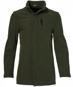 Hensen jas - slim fit - groen
