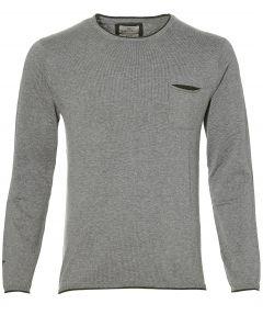 sale - Hensen pullover - slim fit- grijs