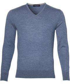 sale - Gentiluomo pullover - slim fit - blauw