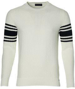 Gentiluomo pullover - slim fit - creme