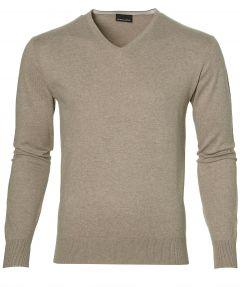Gentiluomo pullover - slim fit - beige