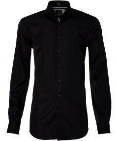 Jac Hensen overhemd - extra lang - zwart