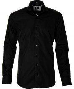 Jac Hensen overhemd - modern fit - zwart