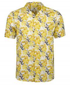 Anerkjendt overhemd - slim fit - geel