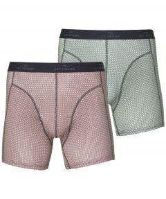 sale - Jac Hensen boxers 2-pack - rood groen