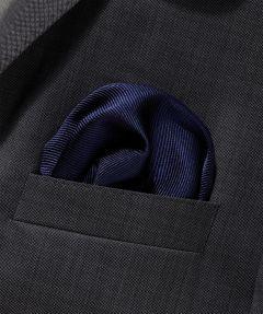 Zijden pochet - donkerblauw