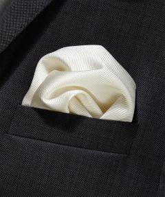 Zijden pochet - ecru