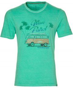 Colours & Sons t-shirt - slim fit - groen