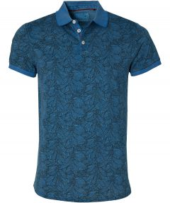 No Excess polo - modern fit - blauw