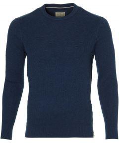 Hensen pullover - extra lang - blauw