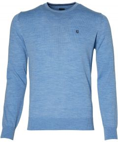 Nils pullover - extra lang - blauw