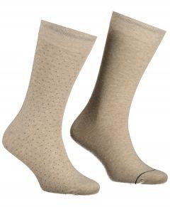 Jac Hensen sokken - 2-pack - beige