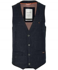 No Excess gilet - modern fit - blauw