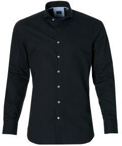 Nils overhemd - slim fit - zwart