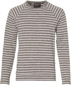 sale - Anerkjendt pullover - slim fit - grijs