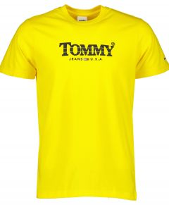 Tommy Jeans t-shirt - slim fit - geel