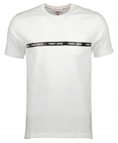 Tommy Jeans t-shirt - slim fit - wit