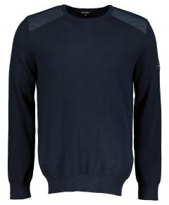 Ecoalf sweater - modern fit - blauw