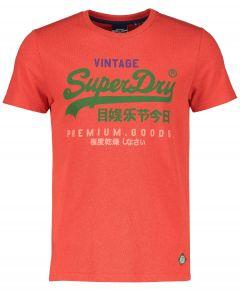 Superdry t-shirt - slim fit - rood