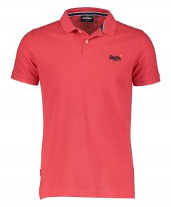 Superdry polo - slim fit - rood