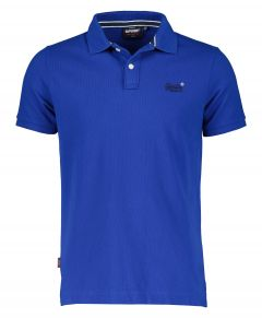 Superdry polo - slim fit - blauw
