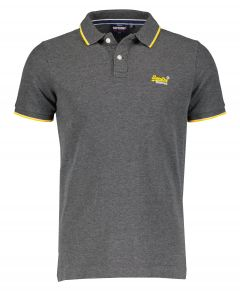 Superdry polo - slim fit - grijs