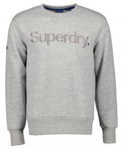 Superdry sweater - modern fit - grijs