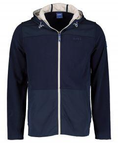 Qubz vest - modern fit - blauw