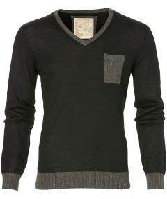 sale - Hensen pullover - slim fit - zwart