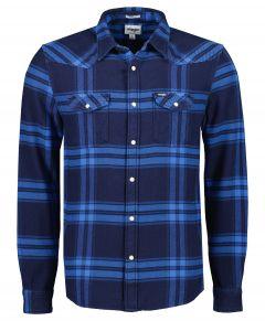 Wrangler overhemd - modern fit - blauw