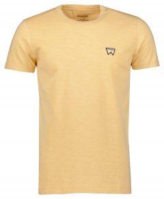 Wrangler t-shirt - modern fit - geel