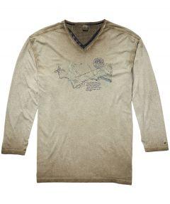 sale - Lerros t-shirt - regular fit - beige