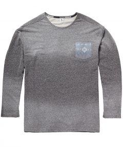 sale - Lerros shirt lange mouw - grote maten - grijs