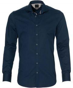 City Line by Nils overhemd - body fit - blauw