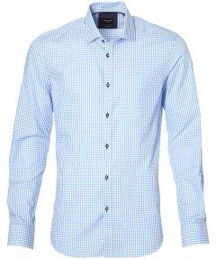 sale - City Line by Nils overhemd - body fit - blauw