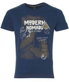 Lerros t-shirt - modern fit - blauw